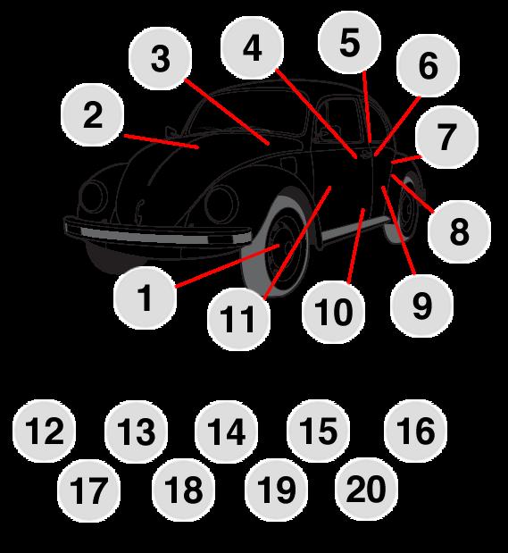 Mobile texto sedan